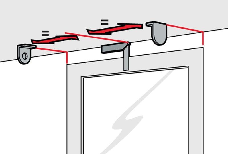 Разметка мест крепления рулонной шторы на потолке балкона
