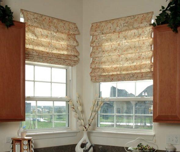 Римские шторы на кухне своими руками