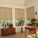 Римские шторы в стиле ретро