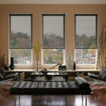 Легкие шторы на окнах гостиной комнаты