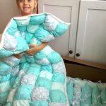 Шикарное одеяло в технике бонбон