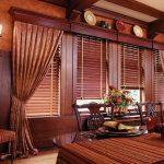 Шикарный деревянный карниз для классической столовой