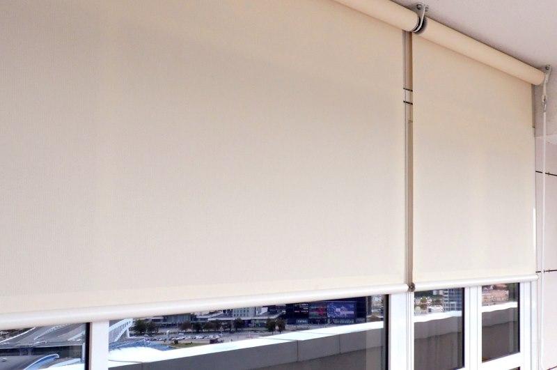 Полотно рулонной шторы из ткани скрин