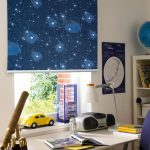 Звездная галактика на шторе в детской