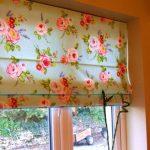 Тканевые шторы своими руками для кухни