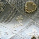 Вязанные элементы спицами для покрывала в стиле пэчворк