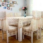 Ажурные чехлы-подушки на стулья