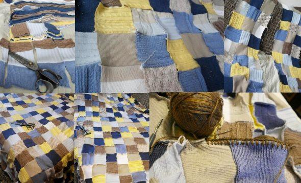 Разрезаем на квадраты и аккуратно сшиваем