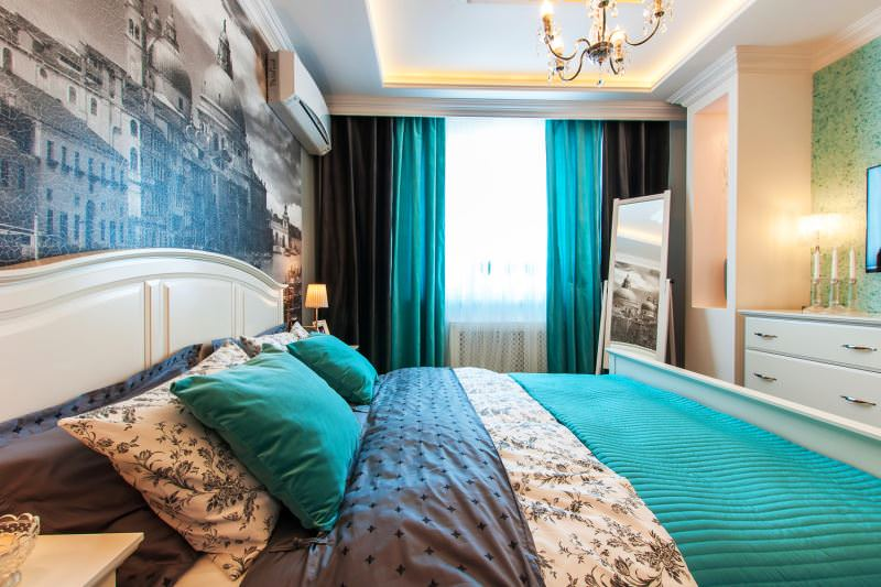 Интерьер модной спальни для женщины