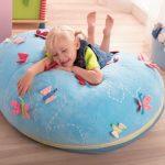 Детская напольная подушка с бабочками