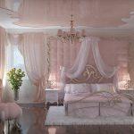 Кружевной тюль в интерьере спальни