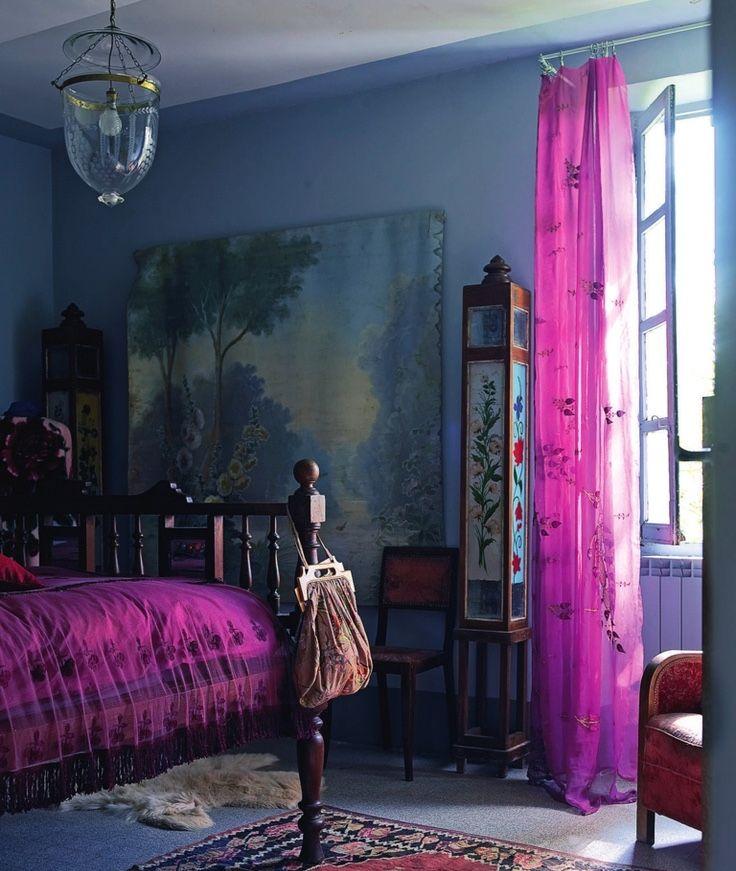 Дизайн спальни в этническом стиле