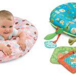 Есть модели подушек для кормления, которые удобно подкладывать малыша во время игр на животе