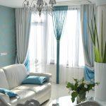 Веревочные шторы бирюзового цвета