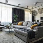Большой диван угловой формы