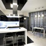 Кухня-столовая в современном стиле