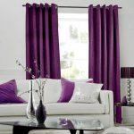 Фиолетовые шторы с креплением на люверсах