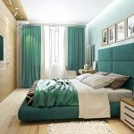 Дизайн спальни вытянутой формы