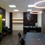 Живая стена в интерьере офиса