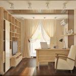 Дизайн офиса с корпусной мебелью