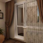 Декор окна с балконной дверью