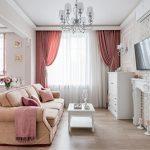 Кирпичная стенка в дизайне гостиной
