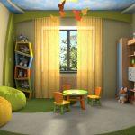 Скрытый карниз в детской комнате