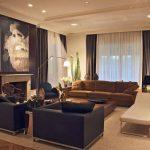 Дизайн гостиной большой площади