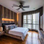 Вентилятор на потолке спального помещения