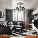 Угловой диван с обивкой из кожезаменителя