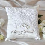 Именная подушечка для свадебных колец