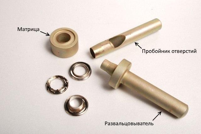 Комплект ручных инструментов для установки люверсов своими руками