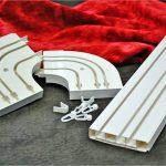 Пластиковые элементы карниза потолочного типа