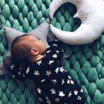 Красивенный детский плед изумрудного цвета