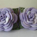 Красивые многослойные фиолтовые подушки-цветы