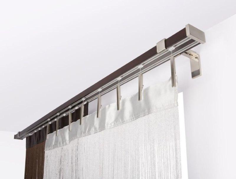 Крепление алюминиевого карниза на стене