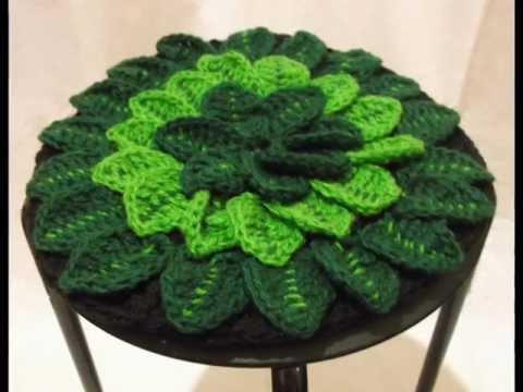Круглая подушка -цветок