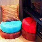 Круглые подушки для сидения на полу своими руками