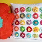 Квадратная подушка с цветочками своими руками