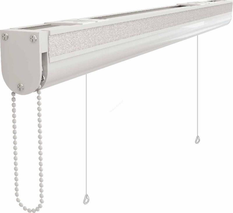 Пластиковый карниз закрытого типа для римской шторы