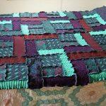 Лоскутное одеяло-покрывало из свитеров