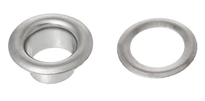 Две части металлического люверса для тента