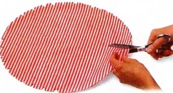 Надрезы круглой подушки