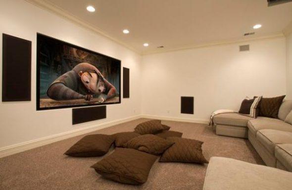 Напольные подушки для домашнего кинотеатра
