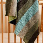 Одеяло из полосок с подкладкой