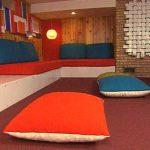 Оригинальные подушки для отдыха на полу