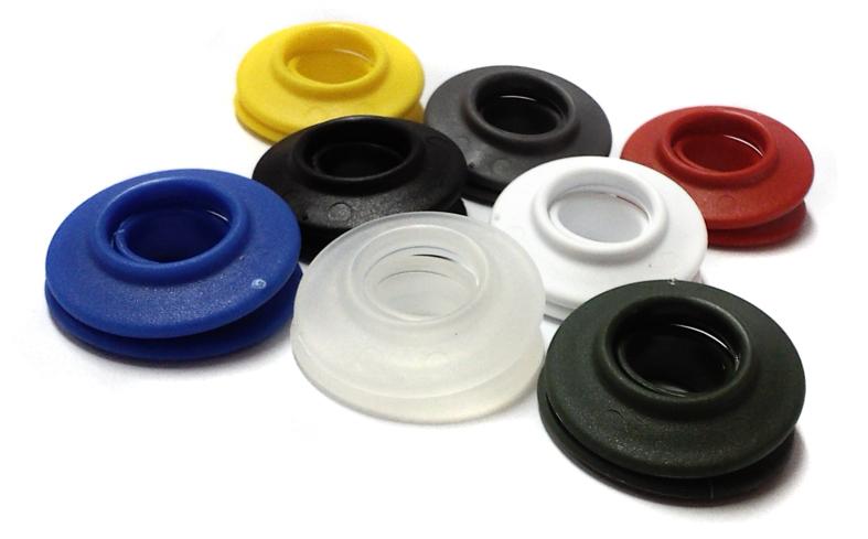 Разноцветный пластиковые люверсы для баннеров