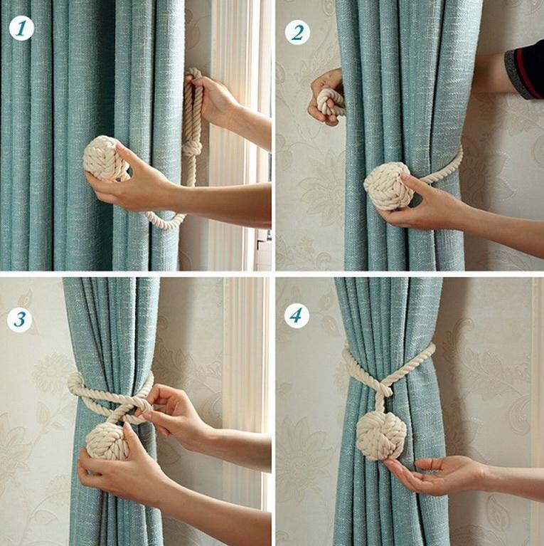 Подхват для шторы своими руками из веревки