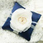 Подушечка для колец синего цвета