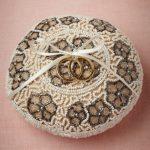 Подушка для колец, декорированная бисером